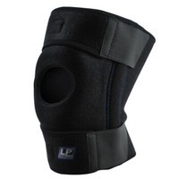 LP733KM强透气升级款夏季运动护膝双弹簧支撑户外跑步篮球登山羽毛球膝关节防护护具 加大码