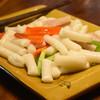 【新品上市】白莲坡手工韩式风味火锅炒年糕条300g*2袋 9.9元包邮(需用券)