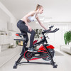 艾玛(EMMA)动感单车家用皮带室内静音健身车健身器材S2000炫酷黑经典款