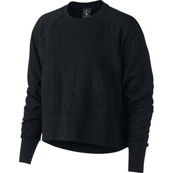 耐克 NIKE 女子 训练 套头衫 TOP VERSA CREW 卫衣 AH8437-010黑色L码