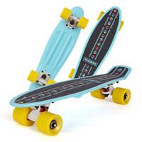 运动伙伴 小鱼板四轮滑板青少年儿童初学者滑板车 梦幻