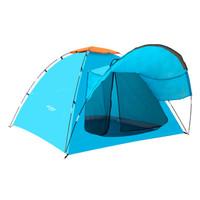 沃特曼Whotman 帐篷户外3-4人单层休闲露营帐篷野营帐篷   蓝色WZ1850