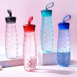 乐扣乐扣水杯塑料便携简约ins女个性随手杯夏季创意学生运动杯子