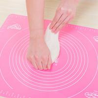尚烤佳 硅胶垫 揉面垫 不粘案板 带标尺面板 烘焙揉面案板垫 硅胶案板餐垫大号