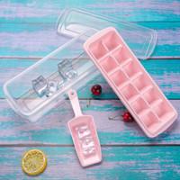 尚烤佳 冰格 冰盒 冰块模具 制冰器 冰块盒 冰箱制冰盒 含冰铲储冰盒12格