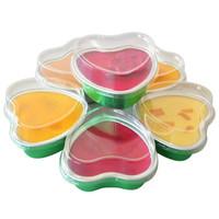 游四方烤杯 心形带盖锡纸盒 铝箔布丁蛋糕杯 烧烤烘焙模具12只装