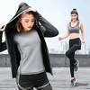 潮流假期 运动套装女春夏运动服外套长裤上衣五件套装健身跑步瑜伽服 W2018-黑色-外套五件套-L