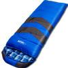 狼行者 户外睡袋 登山露营保暖防寒拼接单人信封式加厚棉睡袋  2.2kg蓝色