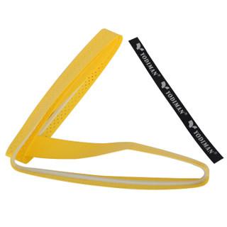 尤迪曼 yodiman 羽毛球拍网球拍龙骨手胶吸汗带 黄色 1条装