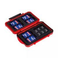 锐玛 CB-101 单反相机存储卡盒 SD CF MSD TF卡盒 收纳盒 红色