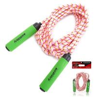 狂神跳绳健身耐磨多人群体泡棉手柄编织跳绳KS0319 绳长6m颜色随机 运动器材体育用品健身器材家用