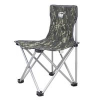 畅意游 Easy Tour 户外折叠椅 轻便靠椅沙滩椅钓鱼椅便携式休闲椅户外折叠椅子 中号迷彩