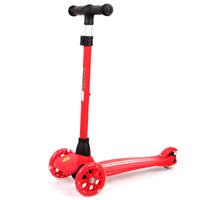 法拉利(Ferrari)儿童滑板车可拆卸升降三轮闪光摇摆车FXK5红色 *3件