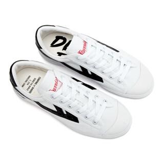 回力/Warrior 回力官方旗舰店回天之力姊妹版CHAPING联名首发ins超火帆布鞋 WB-1L 低调白黑 41