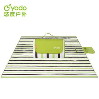 悠度 YODO 户外绒布野餐垫便携坐垫户外防潮垫子加大草坪垫