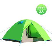 喜马拉雅户外帐篷 双人帐篷户外 野营 加厚帐篷户外 2人情侣露营 轻云2铝杆绿色 HT9518