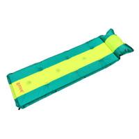 喜马拉雅 户外自动充气垫单人双人可拼接帐篷防潮垫加厚午睡垫野餐郊游露营地垫 绿黄条HA9610