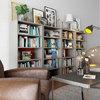 优主意 书架书柜隔断柜办公室简约格子置物架多款多色性价比高 套格·B款-奶咖浅赤铜 299元