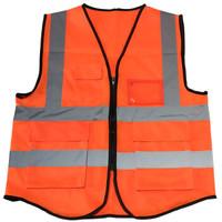 叢林狐  實用型反光背心 交警指揮道路施工夜間作業反光服工作服  熒光橙