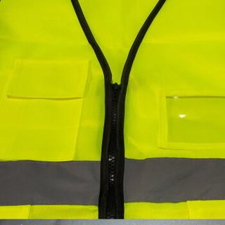 丛林狐  实用型反光背心 交警指挥道路施工夜间作业反光服工作服  荧光红