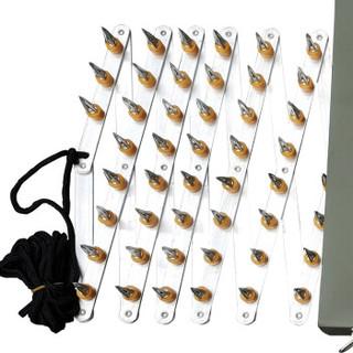 丛林狐  阻车路障 反恐手动 手拉 自动 遥控破胎器 扎胎器 阻车钉 便携式阻车器 金属箱 8米  黑色 手动款