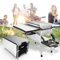 烧烤世家 e-Rover  烧烤炉 烧烤多功能炭烤炉气烤炉 户外 3合一(烧烤、猛火炉、铝桌)烧烤架  小马宝利
