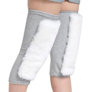 菲慕羊毛护膝男女保暖关节炎防老寒腿骑车运动加厚款M码