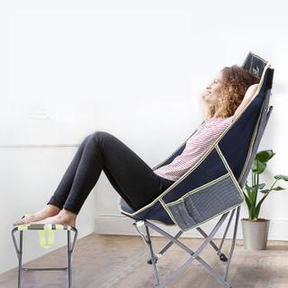 悠度 YODO 便携折叠椅子靠背钓鱼椅凳子休闲沙滩躺椅午休椅月亮椅子