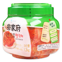 清净园 宗家府 切件泡菜 1200g(辣白菜 咸菜 方便面伴侣 下饭菜) *8件
