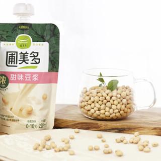 圃美多 甜味豆浆 220ml(方便菜 早餐 油条伴侣 精选大豆 豆腐)