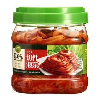 圃美多 桶装切件泡菜 1.2kg(辣白菜 韩餐食材 泡菜汤 方便菜)