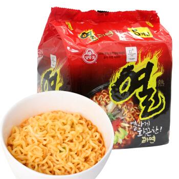 不倒翁 火热拉面 (袋装、5包、辣味、600g)