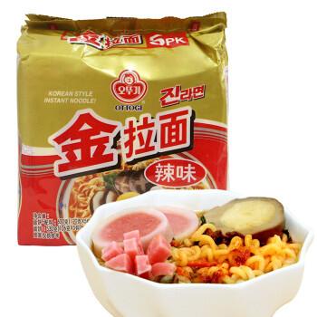 三和四美 韩国进口不倒翁金拉面原味辣味芝士拉面韩式泡菜方便速食火热泡面