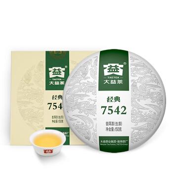 TAETEA 大益 7542 经典普洱茶 生茶 150g