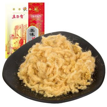 立日有 美味猪肉松 传统原味太仓肉松 早餐下饭菜 肉丝肉绒 袋装150g *6件