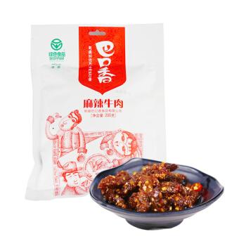 巴口香 牛肉干 麻辣味 200g/袋