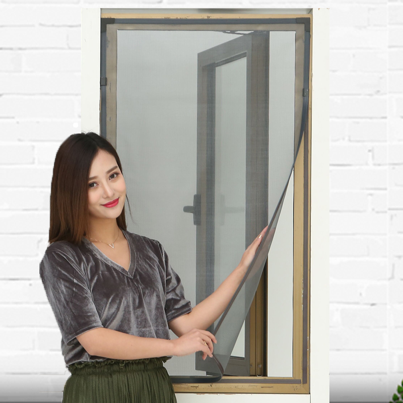 纱窗门帘磁性防蚊定制简易隐形免打孔可拆卸纱网磁条防尘自粘沙窗