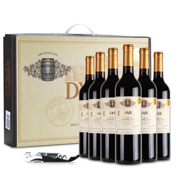 王朝 橡木桶特藏干红葡萄酒 750ml*6瓶 整箱装 *2件