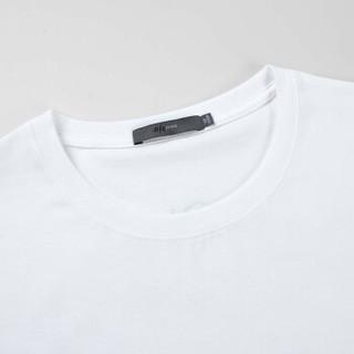 HLA JEANS 黑鲸 2019夏季男士清爽植物图案上衣短袖t恤  CNTBJ29191A