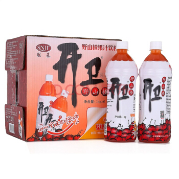 开卫 野山楂果汁饮料 山楂饮品1L*6瓶 整箱