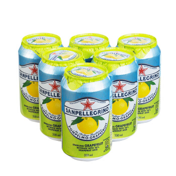 S.PELLECRINO 圣培露 西柚果汁饮料 (330ml*6罐、柚子味)