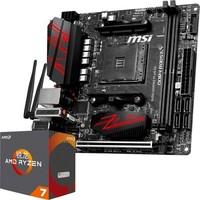 MSI 微星 B450I GAMING PLUS AC 主板+AMD 锐龙 7 2700X CPU 板U套装