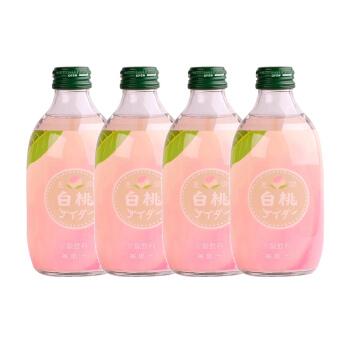 友傑 白桃汽水 (300ml*4瓶、桃子味)