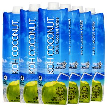KOH COCONUT 天然椰子水 (1L*6瓶、香蕉味)