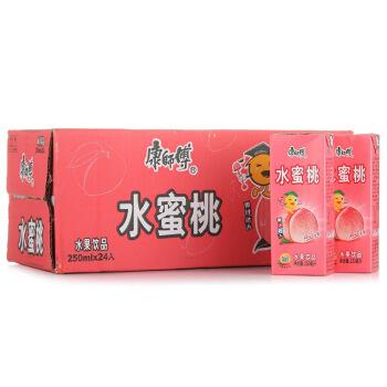 康师傅 水蜜桃汁 250ml*24好喝的水果 整箱装 *8件