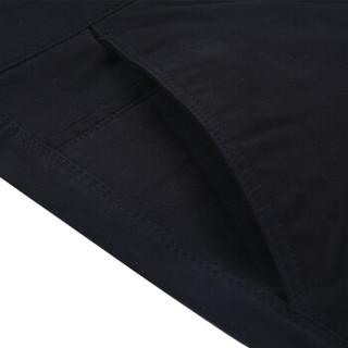 吉普(JEEP)休闲裤男夏季宽松直筒商务休闲弹力棉质男士休闲男裤 黑色 33