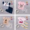夏季宝宝短袖套装纯棉婴儿服儿童夏装男童短裤女童T恤0-1-3岁汗衫 12.9元