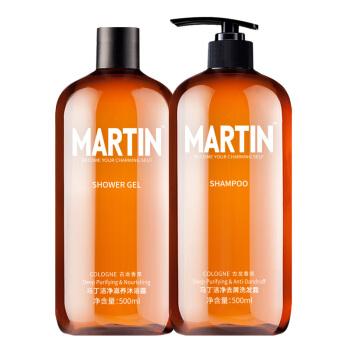 Martin 马丁 洁净洗沐套装(去屑洗发露500ml+滋养沐浴露500ml+50ml*2)