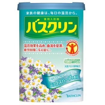 巴斯克林(Bathclin)温热香浴盐(药草香型) 690g(日本进口足浴泡浴盐) *2件