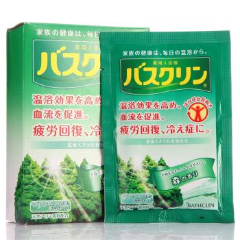 Bathclin 巴斯克林 温热香浴盐(森林香) 20g*5包
